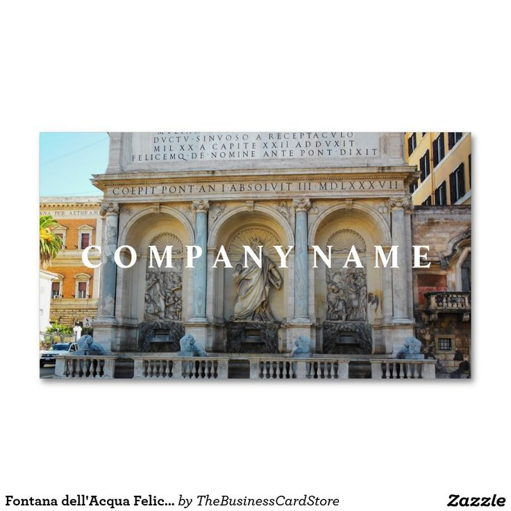 149 best italian business cards from the business card store images fontana dellacqua felice rome italy business card reheart Gallery