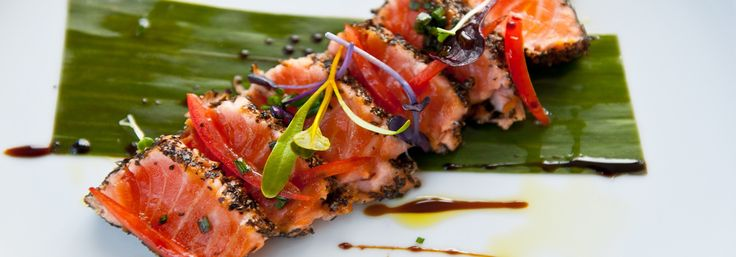 Salmon Tataki with Citrus and Soy Dressing