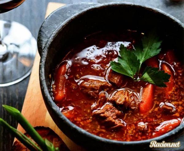 Рецепт Гуляш по венгерски из говядины. Приготовление   блюда