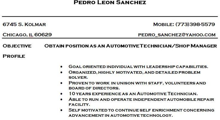 Automotive Technician Resume Skills - http://www.resumecareer.info/automotive-technician-resume-skills-14/