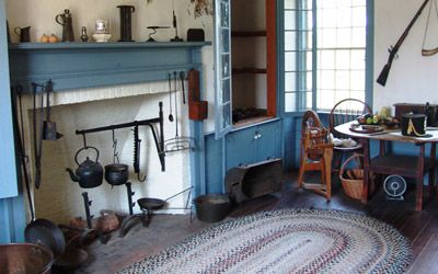 residence of Canadian heroine Laura Secord from 1803 to 1835 Old fireplace inside the homestead