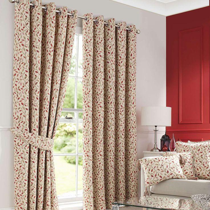 Heritage Terracotta Glava Lined Eyelet Curtains Dunelm