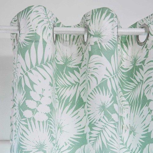 Bedruckter Vorhang grün 140x250cm FICUS
