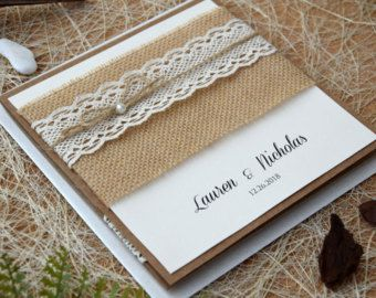 Printable Burlap And Lace Wedding Invitation by iDesignStationery