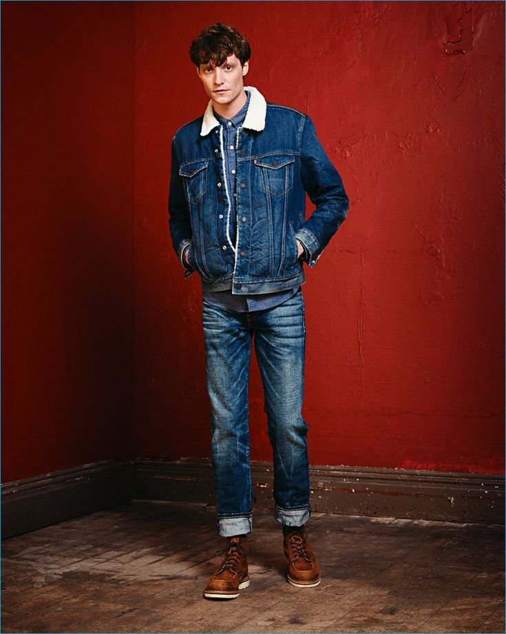 Matthew Hitt doubles down on denim, wearing essential pieces from Levi's.