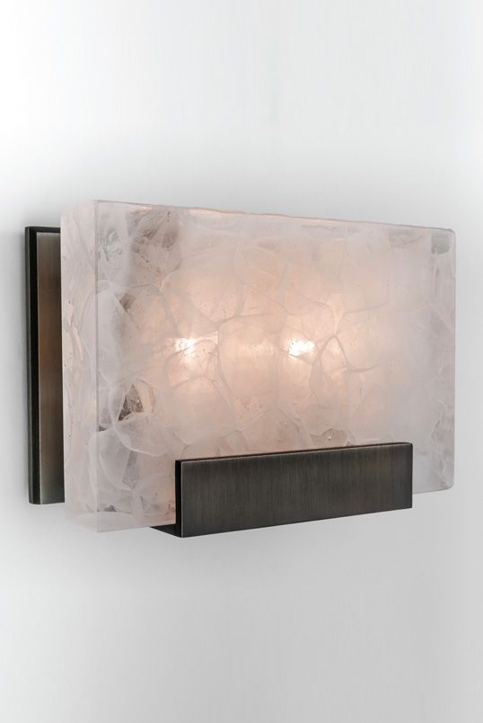 MAGNUS SCONCE: polished cast glass with handmade metalwork