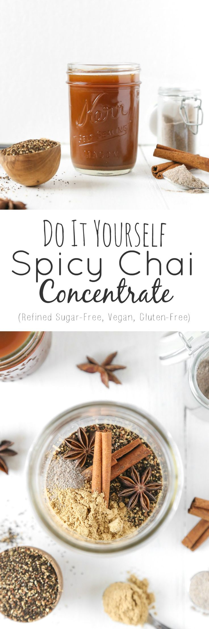 DIY Spicy Chai Concentrate (8 Ingredients!) | Vegan, Gluten-Free. Refined Sugar-Free | The Plant Philosophy