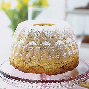 Easter Kugelhopf. This golden coffee cake with a rich buttery flavor is a German specialty.