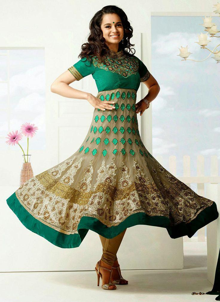 8 besten Pretty kangna Style Anarkali Suits Bilder auf Pinterest ...