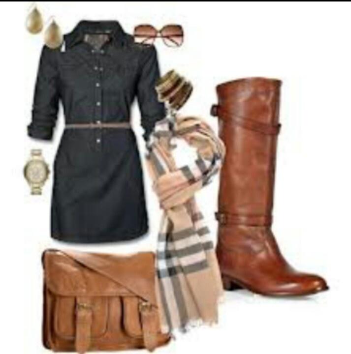 Dress w/ Riding boots ♥