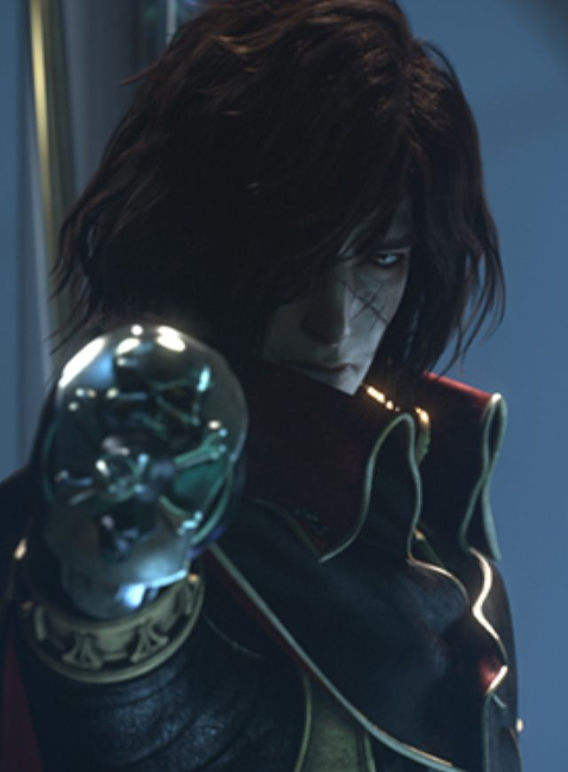Captain Harlock.  Even after 30 years he got better .... Welcome back, Captain.