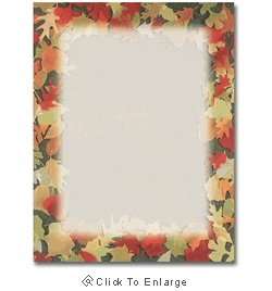 Translucent Fall Leaves Autumn Laser & Inkjet Printer Paper - $12.99