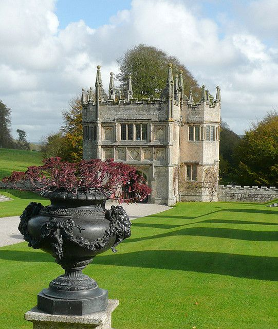 The Garden Urns at Lanhydrock, Cornwall, England dates fro 17th century