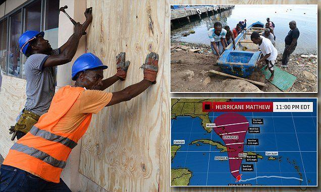 Powerful Hurricane Matthew swirls towards Haiti and Jamaica