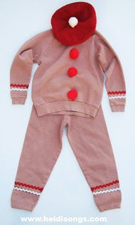 Costumes for the #Gingerbread Man Play- This is for the Gingerbread Man!