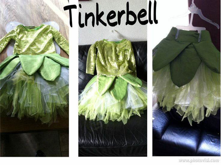 Zelfgemaakte Tinkerbell outfit voor carnaval  Selfmade Tinkerbell costume