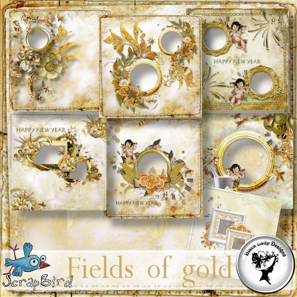 Fields of gold - QP by Black Lady Designs