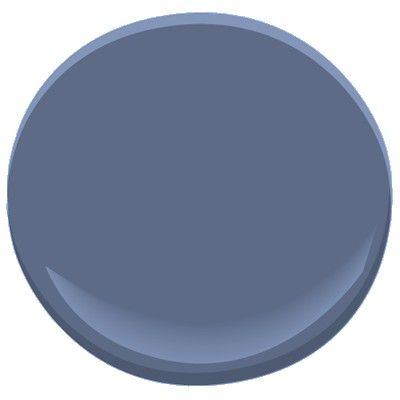"""Benjamin Moore blue heron 832 - a deep, rich color. Paint sample is much darker and richer than web image. For """"formal dining room"""" (study / lounge). Next light color is BM stratford blue 831"""