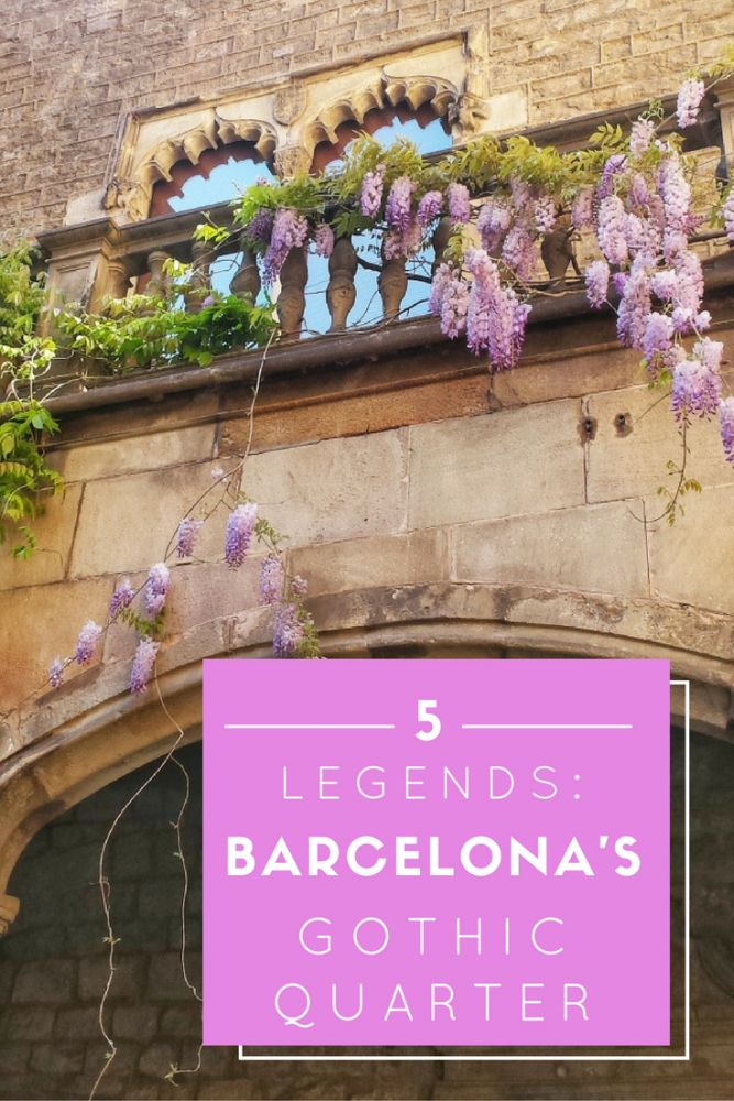 One of the best things to do in Barcelona? Explore the magical legends of Barcelona's Gothic Quarter - there are lots of real places you can visit!