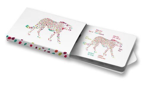 Ludmila Dařílková - Gepard #ilustration #animal #white #color  #ChewingGums #Žvýkačky