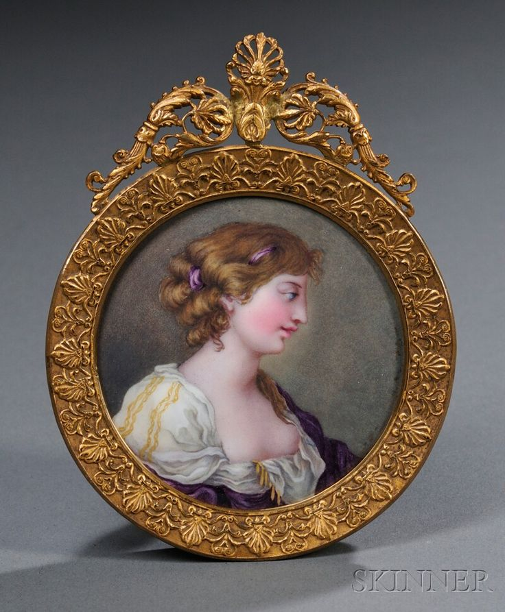 Enameled Portrait Miniature, Continental, 19th century