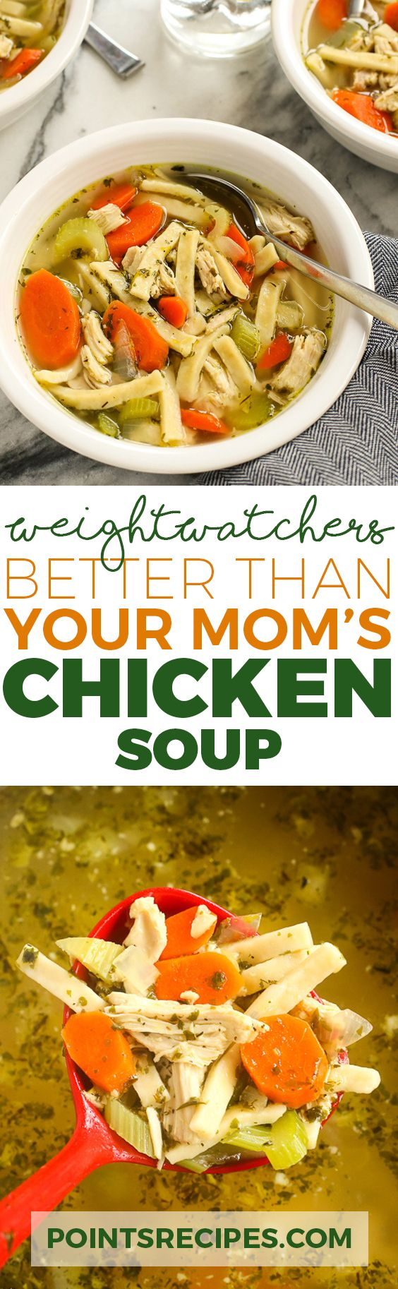 Better than Your Mom's Chicken Soup (Weight Watchers SmartPoints)