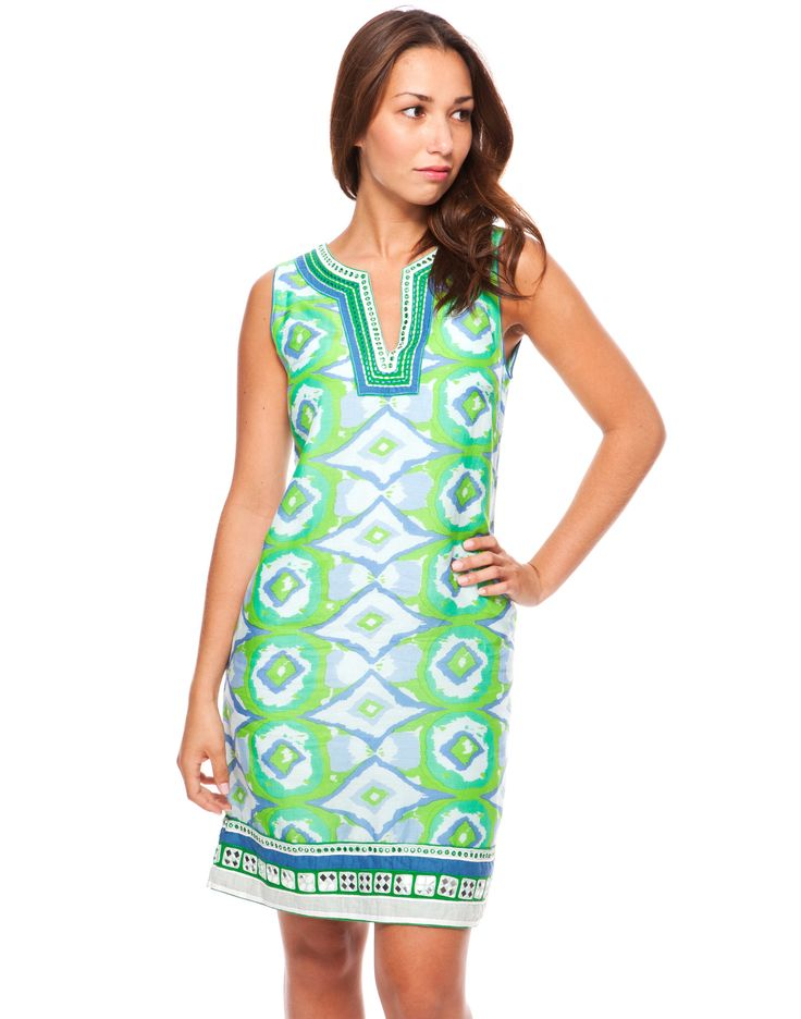 Ikat Dress - Green