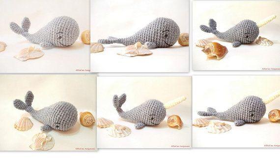 PDF Crochet Pattern Whale Pattern Crochet Tutorial by AllSoCute