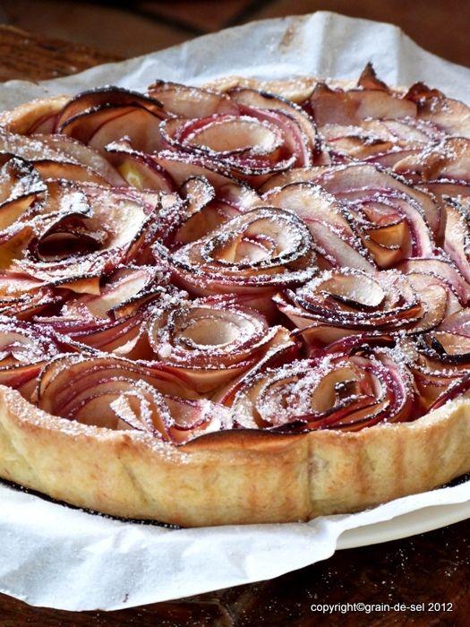 grain de sel - salzkorn: Rosamunde Pilcher Apfelkuchen oder Tarte aux Pomme...