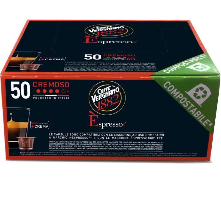 Superisparmio's Post Caffè Vergnano  Caffè Vergnano 1882 Èspresso1882 Cremoso - 50 Capsule - Compatibili Nespresso capsule compostabili.  A solo 9.00 in esclusiva per clienti Prime   http://ift.tt/2sYYW75