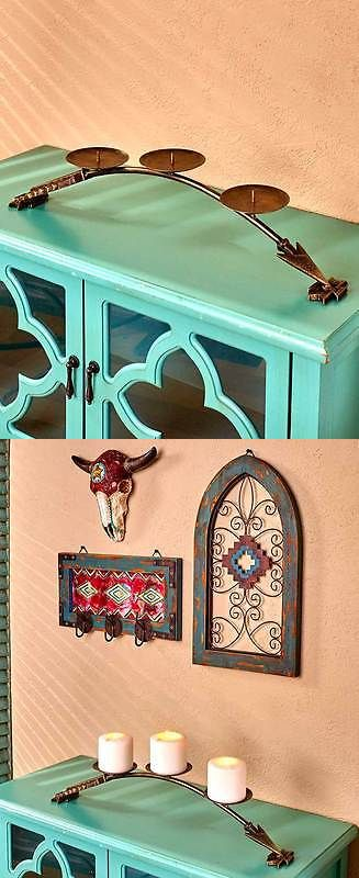 Candle Holders and Accessories 16102: Scrolled Metal Southwestern Arrow Candle Holder Pillar Holder South West Decor -> BUY IT NOW ONLY: $34.99 on eBay!