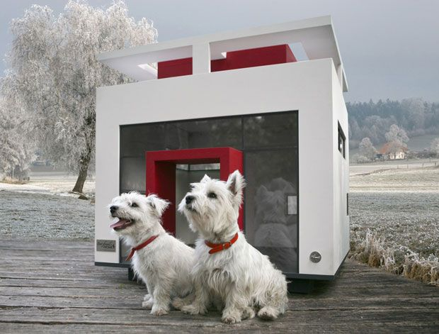 The 'Cubix' dog mansion is influenced by Bauhaus architecture, it comes from Best Friend's Home dog mansions