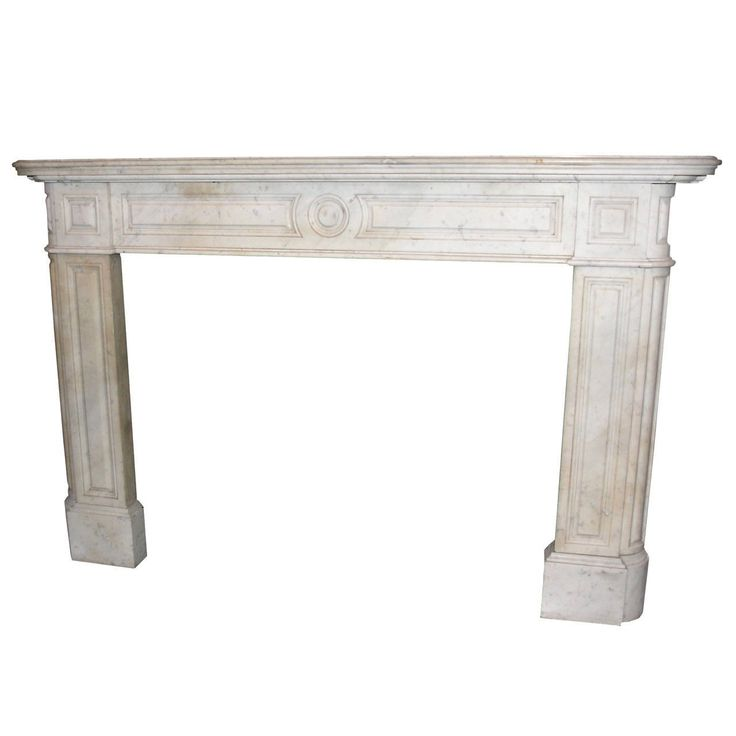 Antique Carrara Marble Fireplace Mantel | From a unique collection of antique and modern fireplaces and mantels at https://www.1stdibs.com/furniture/building-garden/fireplaces-mantels/