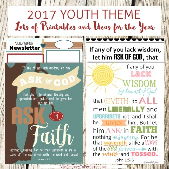 2538 best lds young womens images on pinterest young women all you need for 2017s lds mutual theme james 156 ask of god ask in faith stopboris Image collections