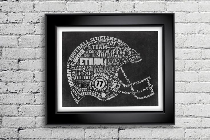 FOOTBALL Artwork - Custom Personalized Football Helmet Printable Word Art - Perfect gift for your Player, Fan, Coach or Enthusiast! by ShaunaSmithDesigns on Etsy https://www.etsy.com/listing/247451929/football-artwork-custom-personalized