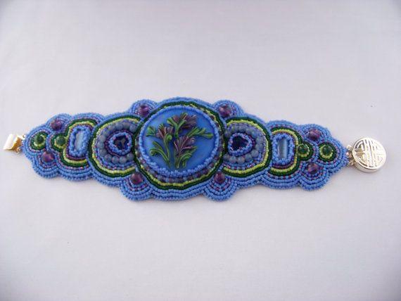 Fern Hill Flowers Bracelet by deborahaweaver on Etsy, $185.00