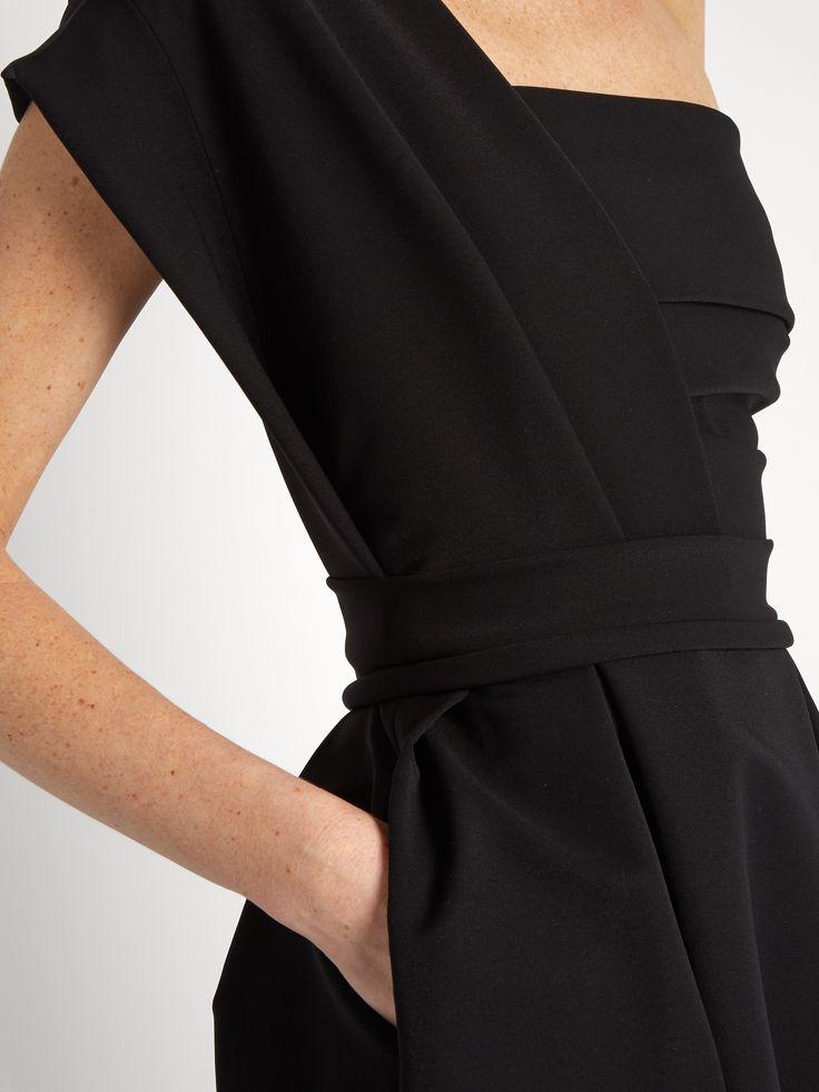 Ace one-shoulder pleated stretch-cady midi dress | Preen By Thornton Bregazzi | MATCHESFASHION.COM US
