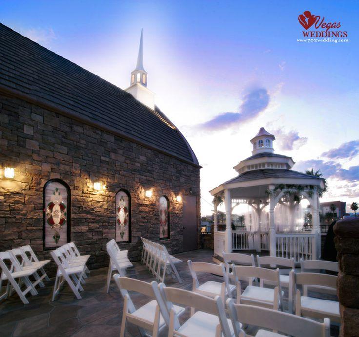 The Terrace Outdoor Venue at Vegas Weddings seats 40 guests and has a beautiful gazebo! http://www.702wedding.com/las-vegas-wedding-chapels.asp