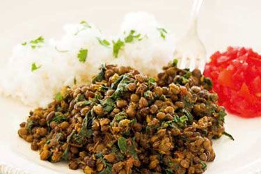 Spinach and Lentil Curry recipe, NZ Woman's Weekly – A fantastic vegetarian meal with lots of fibre and nutrients from both the lentils and spinach. Vegans - all you have to do is substitute the butter for olive oil and you've got yourself a delicious vegan meal. – foodhub.co.nz
