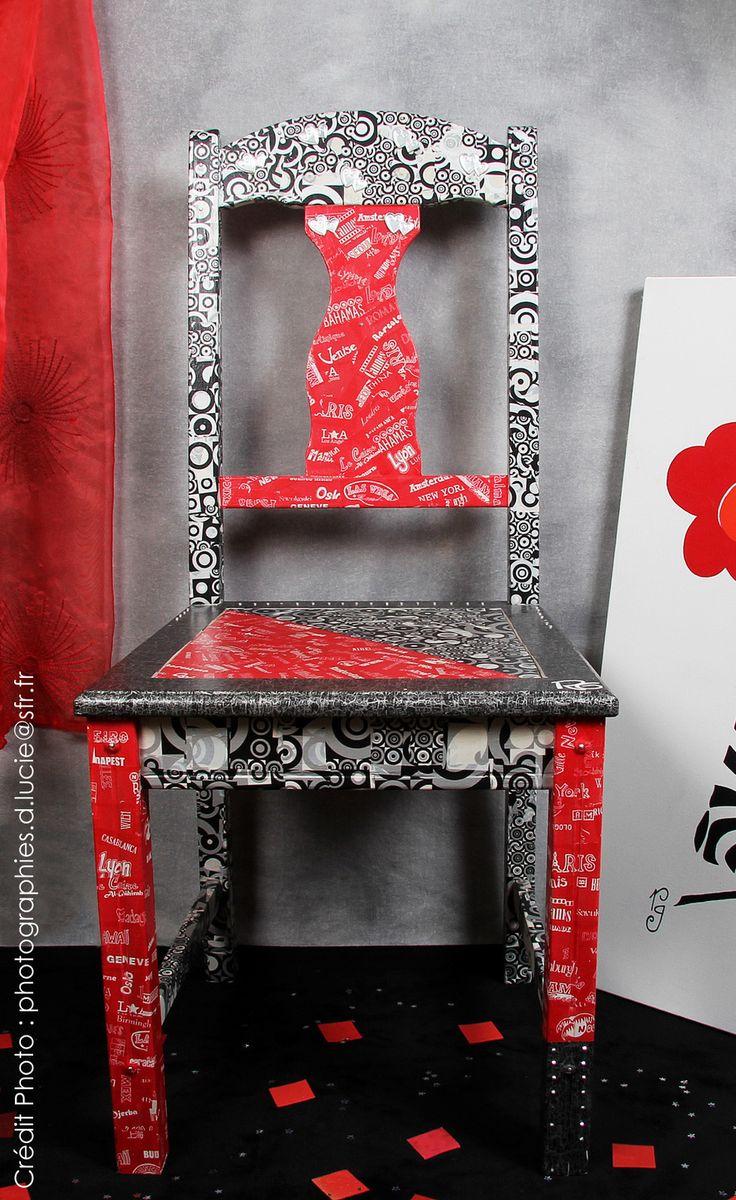 L'esprit Loft pour cette chaise customisée ... … Vendue ... L'Atelier de RG (créatrice d'ambiance, Ateliers DIY)