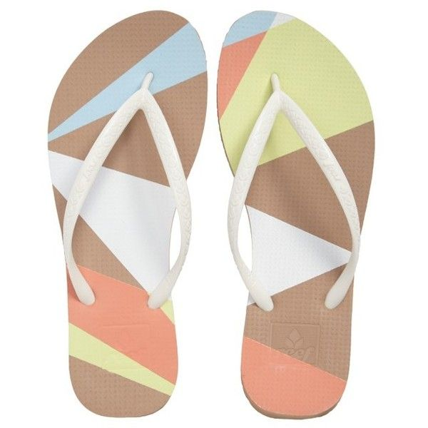 Women's Reef Escape Flip Flop found on Polyvore featuring shoes, sandals, flip flops, tan geo, tan sandals, reef footwear, strappy shoes, beach flip flops and beach shoes