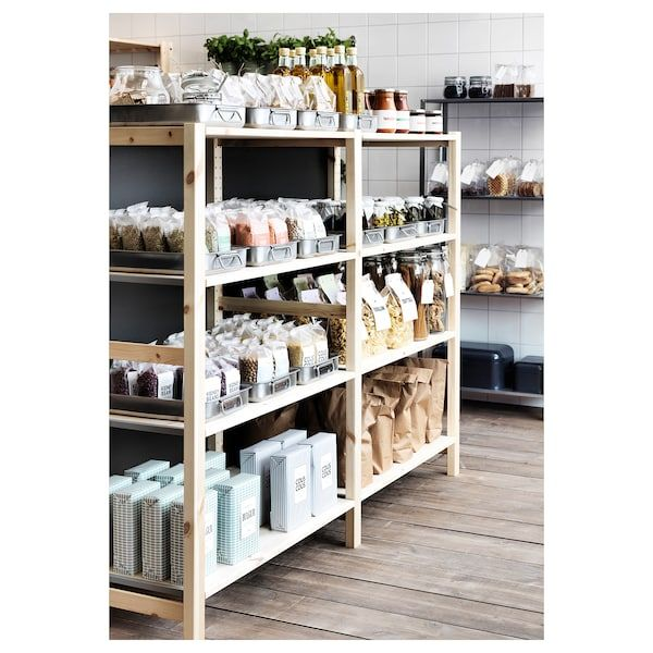 purchase cheap 12a2a 23372 IVAR 2 section shelving unit - pine in 2019 | Shelves, Wood ...