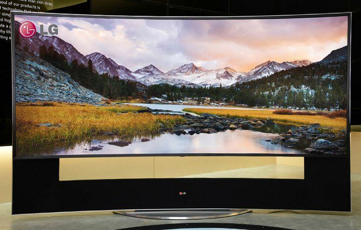 """LG zakrivený """"5K"""" UHD TV"""