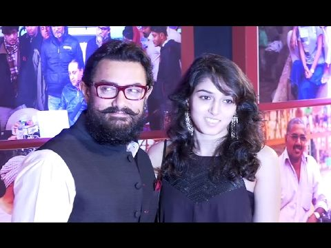 Aamir Khan With Daughter Ira Khan At Grand Success Party Of DANGAL Movie.