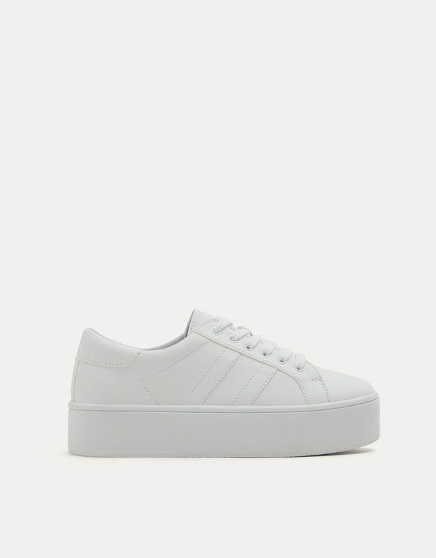 Pas Cher Blanc Chaussures, Bottes, Baskets Pull&bear