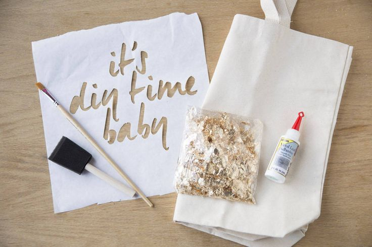 DIY Gold Leaf Tote - DIY Craft Kits, Monthly Craft Projects, Craft Supplies, Subscription Box | Whimseybox