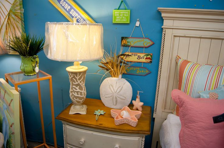 Unique Beach Style Lamps and Decor| Home or Condo