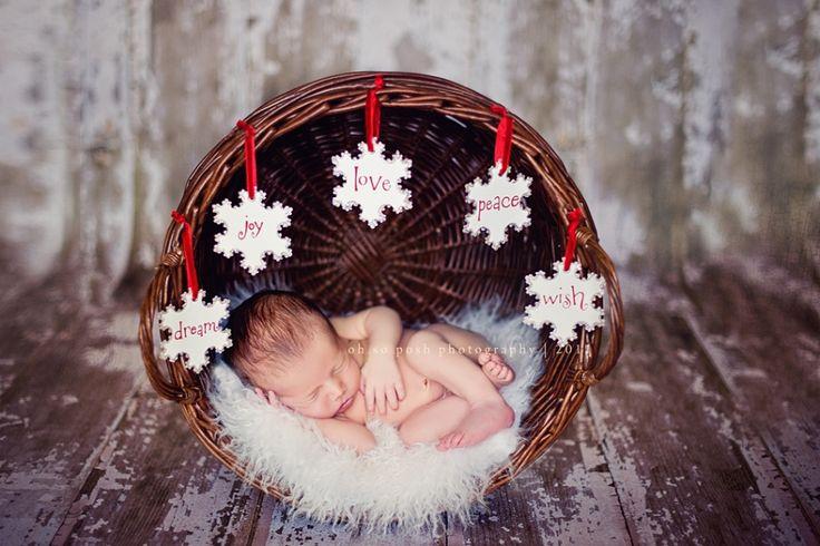 Sweet Christmas Newborn Session | Oh So Posh Photography