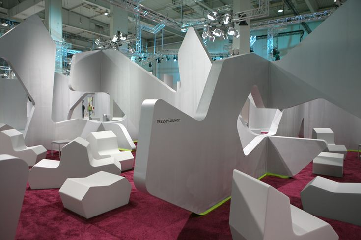 german architect j. mayer h. and german artist tobias rehberger design the innovation space  of the event's 3,500 square