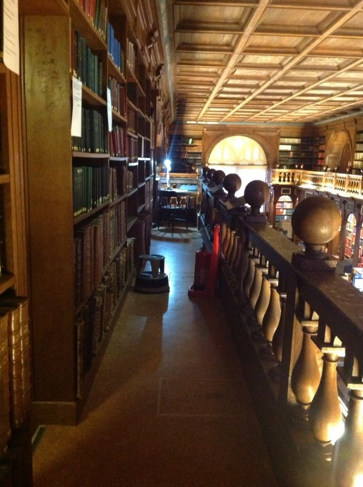 the exact balcony where Diana pulled NOTES AND QUERIES off the shelf--and Matthew caught her...